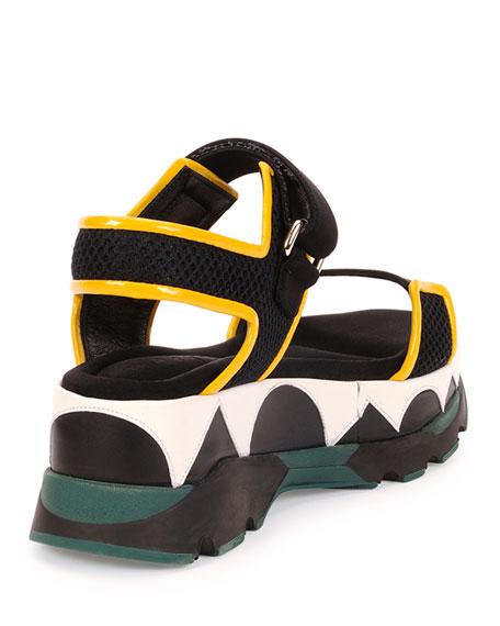 b1a2d2a40ba Marni Geometric-Print Platform Sandal