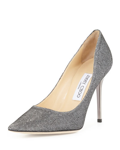 Abel Metallic Fabric Pump, Pewter