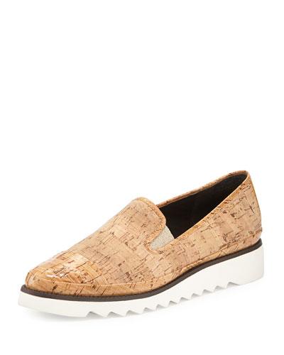 Beliz Cap-Toe Cork Sneaker, Natural