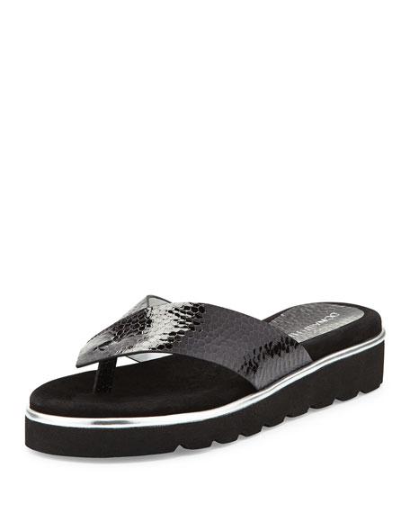 Donald J Pliner Liv2 Cushioned Flip-Flop Sandal, Black