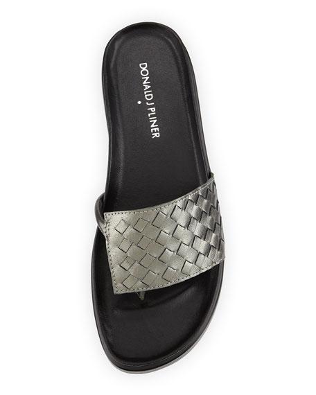 45a8e4439801 Donald J Pliner Fifi Woven Platform Sandal