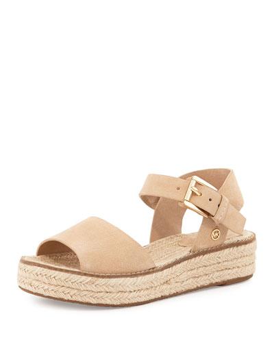 Lilah Leather Espadrille Sandal, Bone