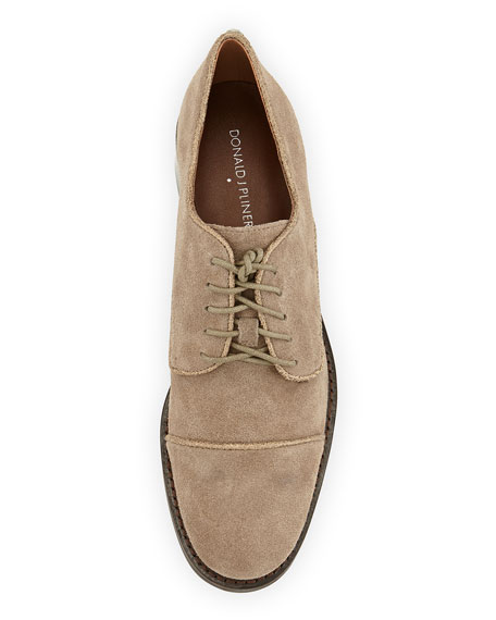 Zoee Suede Fashion Oxford, Taupe