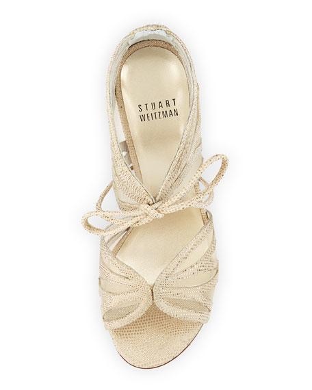 Openleaf Leather Tie-Front Sandal, Cava