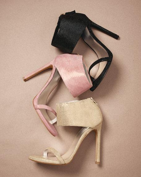 Showgirl Ankle-Cuff Sandal, Night