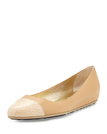 Jimmy Choo Cap-Toe Leather Flats websites cheap price m58tu