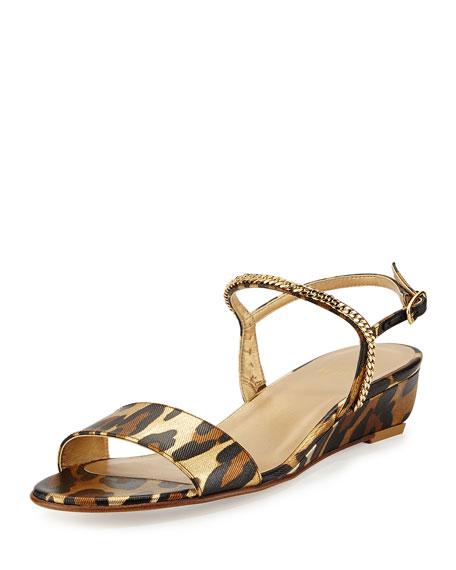 Stuart Weitzman Sweeper Demi-Wedge Sandal, Jaguar