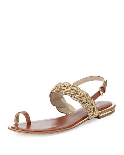 Hannalee Chain Flat Sandal, Luggage
