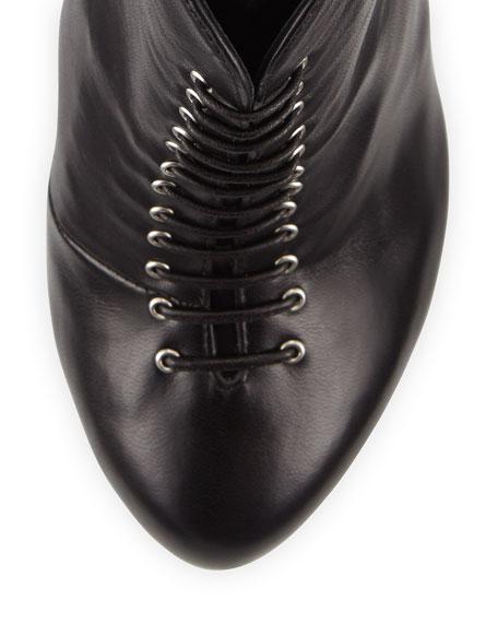 Giuseppe Zanotti Lace-Up Spiked Heel Bootie, Black