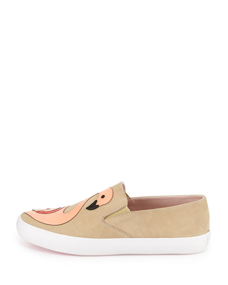 kate spade new york selma flamingo skate sneaker, natural