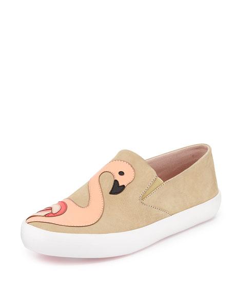 selma flamingo skate sneaker, natural