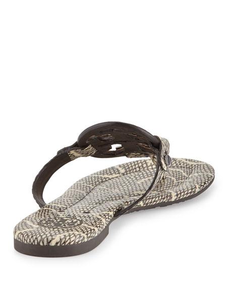 69530dd218da3 tory burch miller 2 snake embossed medallion sandal black natural ...