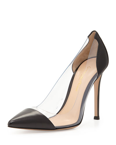 Cap-Toe Plexi Pump, Black