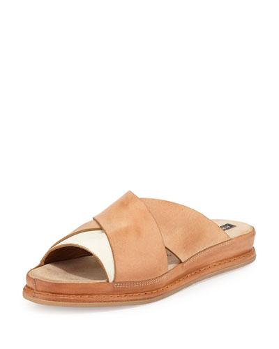 Noli Leather Crisscross Sandal, Tan