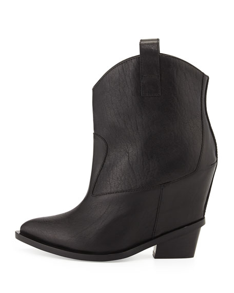a93f48428316 Giuseppe Zanotti Leather Hidden-Wedge Ankle Boot