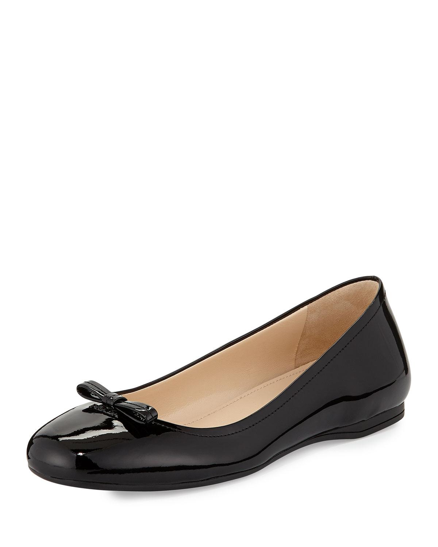 Prada Patent Leather Ballet Flat, Nero