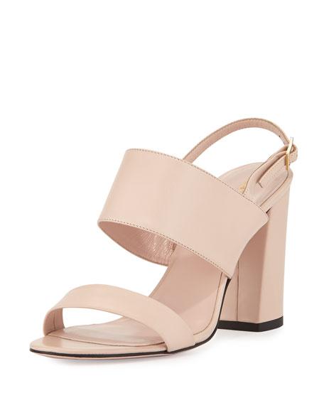 kate spade new york irvine leather city sandal, petal pink