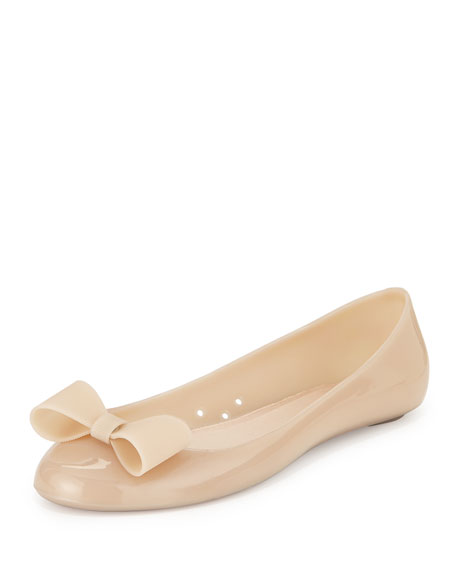 jove bow jelly ballet flat, dusty mauve