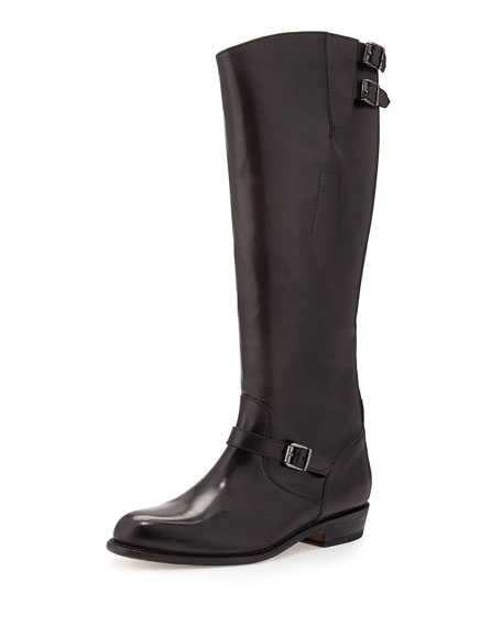 Frye Dorado Buckle Riding Boot, Smoke