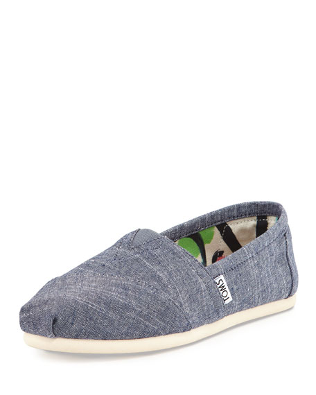 Chambray Slip-On, Blue