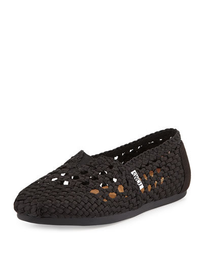Woven Satin Slip-On, Black