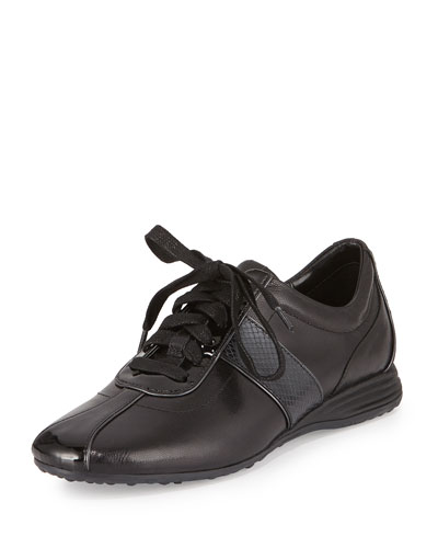 Bria Grand Leather Sneaker, Black