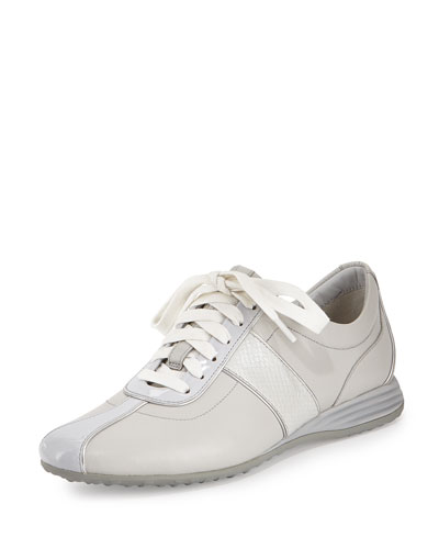 Bria Grand Leather Sneaker, Vapor
