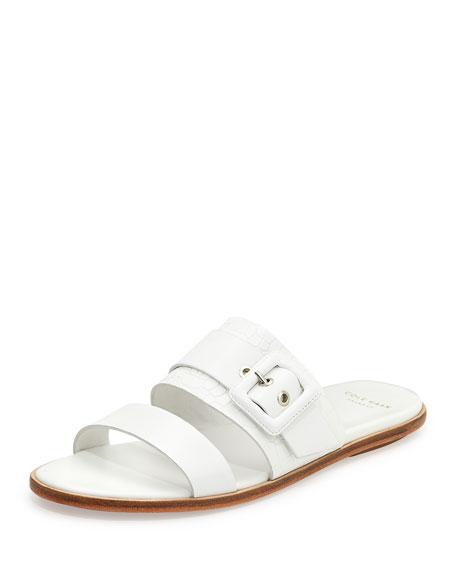 Cole Haan Amavia Double-Band Sandal, Optic White