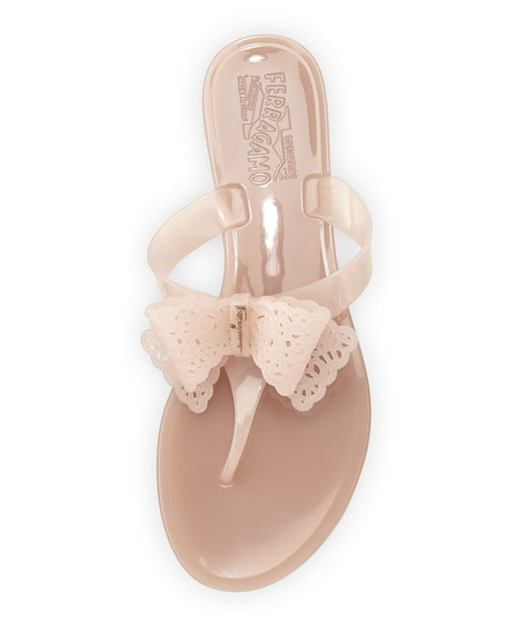 Pandy Pow Jelly Thong Sandal, Macaroon Light Pink