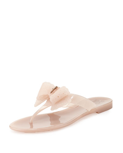 Pandy Pow Jelly Thong Sandal, Macaroon Light Pink