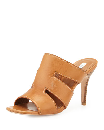 Phira Leather Mule Sandal, Brucatio