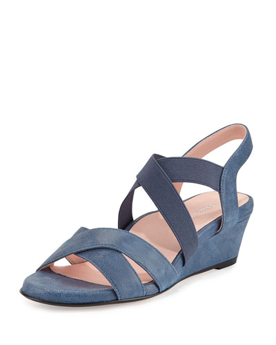 Spiro Demi-Wedge Sandal, Blue
