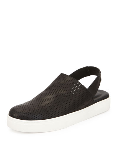 Gogo Perforated Slingback Sneaker, Black