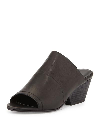 Juju Mid-Heel Slide, Black