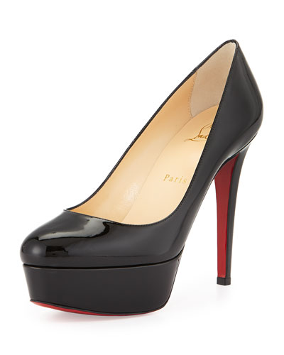 Bianca Platform Red Sole Pump, Black