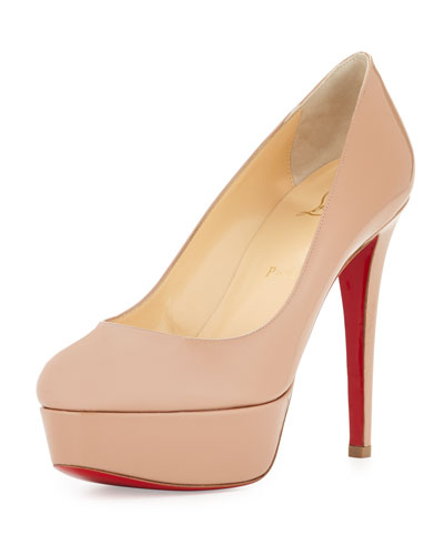 Bianca Patent Red Sole Pump, Nude