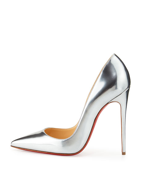 differently 8bd1d 3892a So Kate Metallic Red Sole Pump Gray