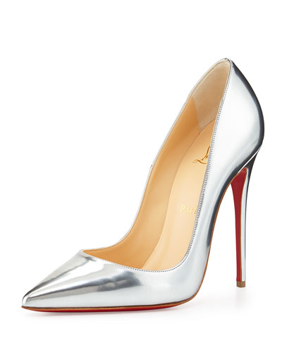 So Kate Metallic Red Sole Pump, Gray