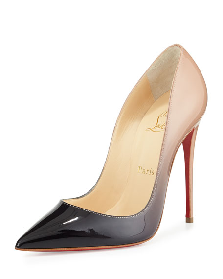 395e70de1a Christian Louboutin So Kate Degrade Red Sole Pump, Black/Nude | Neiman  Marcus