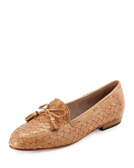 Sesto Meucci Nicole Woven Leather Loafer, Natural