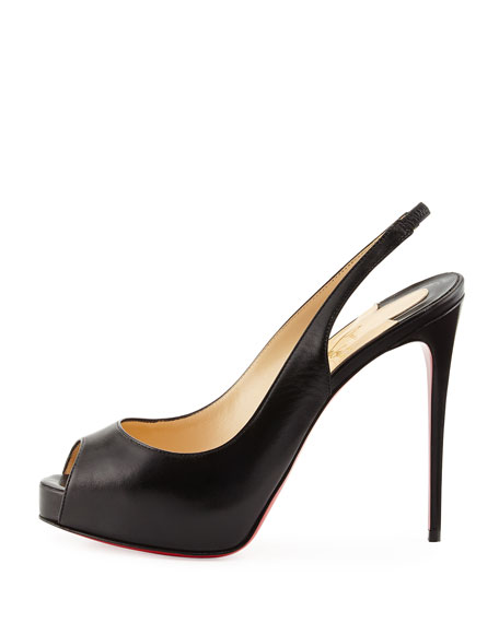 1ce6cd17baa Private Number Slingback Red Sole Pump Black
