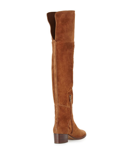 Chloe Suede Over-the-Knee Flat Boots