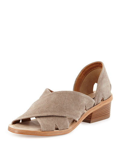 Trino Cross-Strap Sandal, Sand