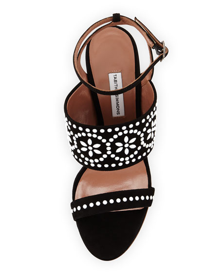 Blaze Beaded Suede Sandal, Black