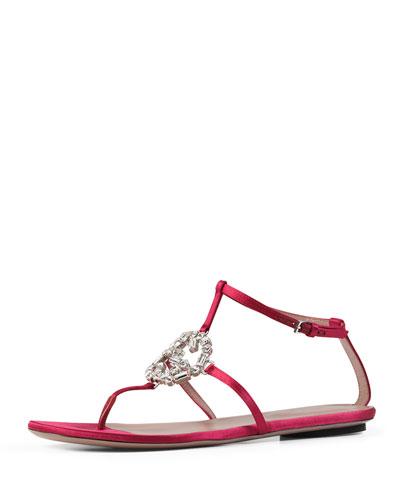 Crystal GG Thong Sandal,