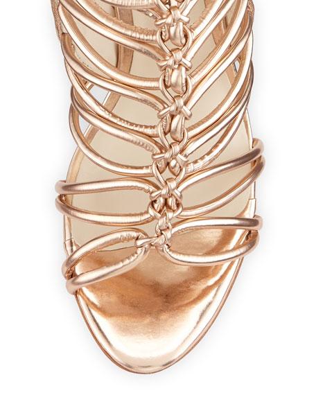 Lacey Lace-Up Gladiator Sandal, Rose