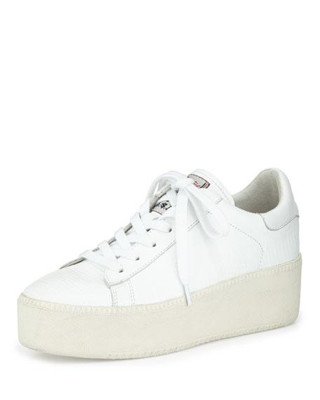 Cult Platform Leather Sneaker, White