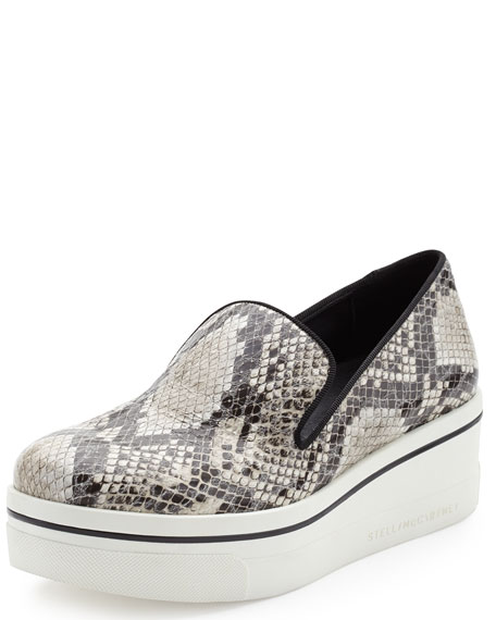 Stella McCartney Snake-Embossed Sneaker-Style Loafer