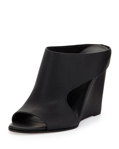 Vince Kaya Leather Wedge Mule Black