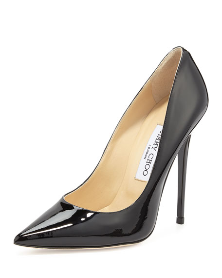 Jimmy Choo Anouk Patent Leather Pump, Nude